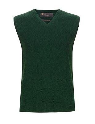 Pure Cashmere V-Neck Slipover, GREEN, catlanding