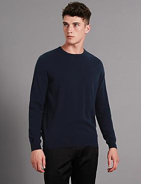 Pure Cashmere Jumper, NAVY, catlanding