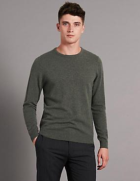 Pure Cashmere Jumper, GREEN, catlanding