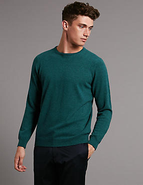 Pure Cashmere Jumper, EMERALD, catlanding