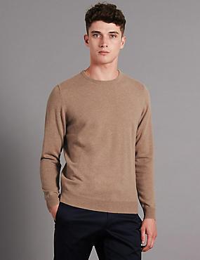 Pure Cashmere Jumper, CAMEL, catlanding