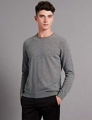 Pure Cashmere Jumper, GREY, catlanding