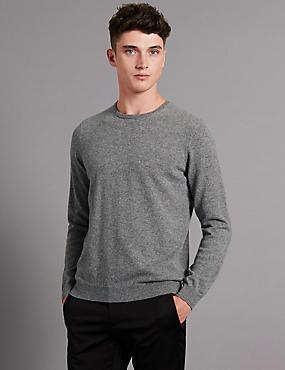Jersey 100% cashmere, GRIS, catlanding