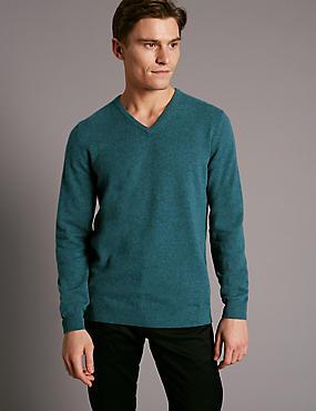 Pure Cashmere Jumper, TEAL, catlanding