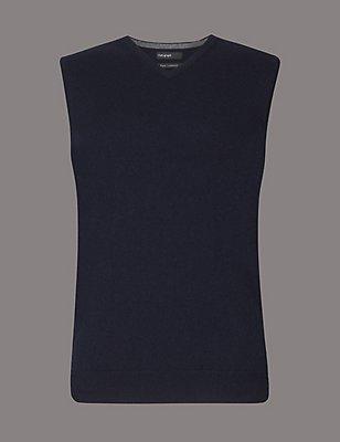 Pullover zum Überziehen aus reinem Kaschmir mit Nahtdetail, MARINEBLAU, catlanding