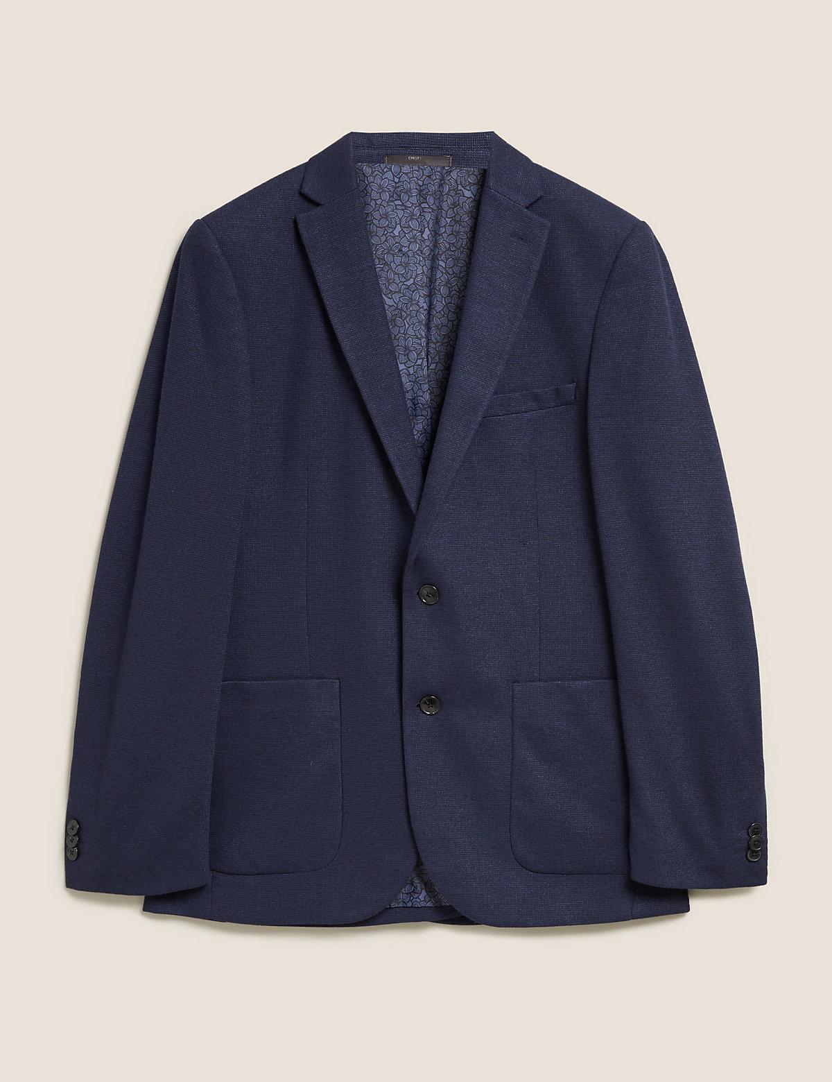 Узкий текстурированный пиджак с добавлением эластана