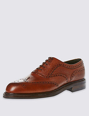 Classic Country Brogue in Tan Scotchgrain Leather, BROWN, catlanding