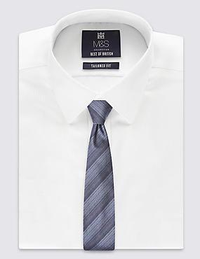 Cravate en soie à rayures fines multicolores, fabriquée à la main, BLEU ASSORTI, catlanding