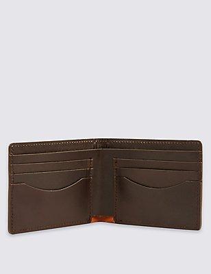 Made in the UK Leather Bi Fold Wallet, , catlanding