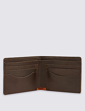 Made in the UK Leather Bi Fold Wallet, , catlanding
