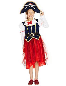 Kids' Pirate Girl Costume Dress, NAVY MIX, catlanding