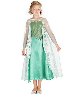 Kids' Disney Frozen Elsa Costume, AQUA MIX, catlanding