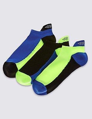 3 Pairs of Sports Socks (3-16 Years), BLUE MIX, catlanding