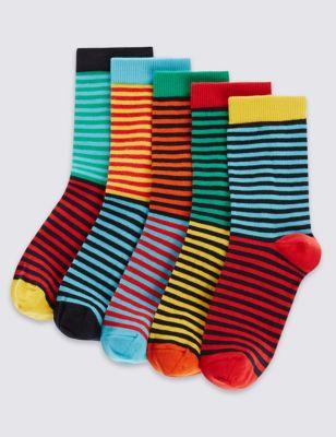 Цветные носки Freshfeet™ в полоску для мальчика (5 пар)