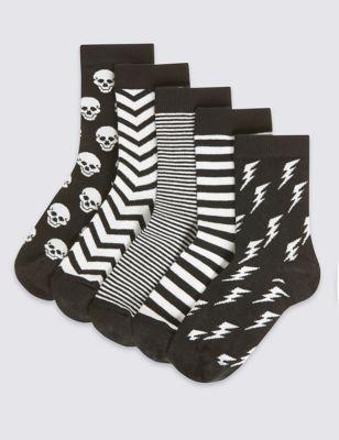 Носки Freshfeet™ с монохромным рисунком для мальчика (5 пар)