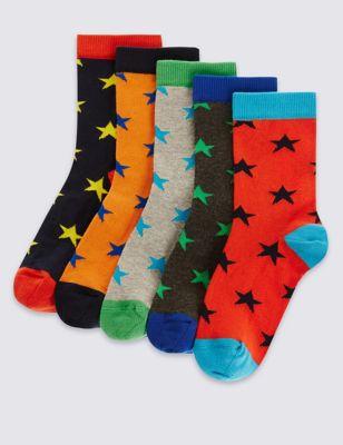 """Хлопковые носки Freshfeet™ с ярким дизайном """"Звёзды"""" для мальчика 1-14 лет (5 пар) T644453"""