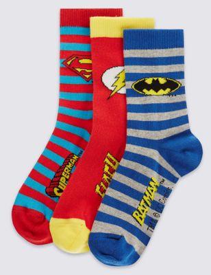 Яркие хлопковые носки Freshfeet™ с надписями и эмблемами для мальчика 5-14 лет (3 пары)