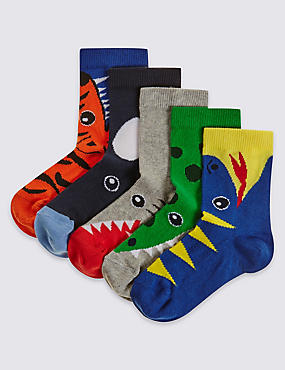 Lot de 5paires de chaussettes (du 1 au 6ans), ORANGE ASSORTI, catlanding