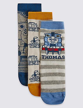 3 Pairs of Thomas & Friends™ Socks (3-6 Years), BLUE, catlanding