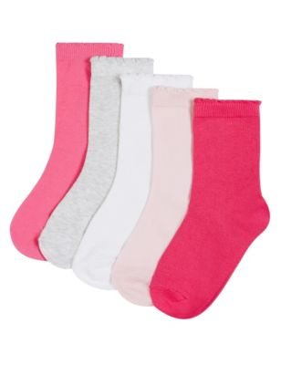 Однотонные хлопковые носки Freshfeet™ для девочки 1-7 лет (5 пар) T645161