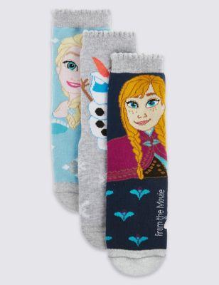 Хлопковые носки с диснеевским дизайном Frozen для девочки 1-7 лет (3 пары) T645188