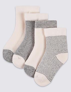Lot de 4paires de chaussettes à motif (jusqu'au 12mois), , catlanding