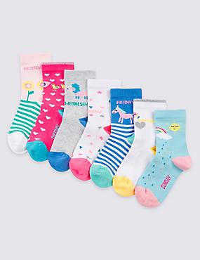 Lot de 7paires de chaussettes Freshfeet™ (du 1 au 6ans), ROSE MAGENTA, catlanding