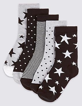 Lot de 5paires de chaussettes Freshfeet™ (du 1 au 14ans), NOIR ASSORTI, catlanding