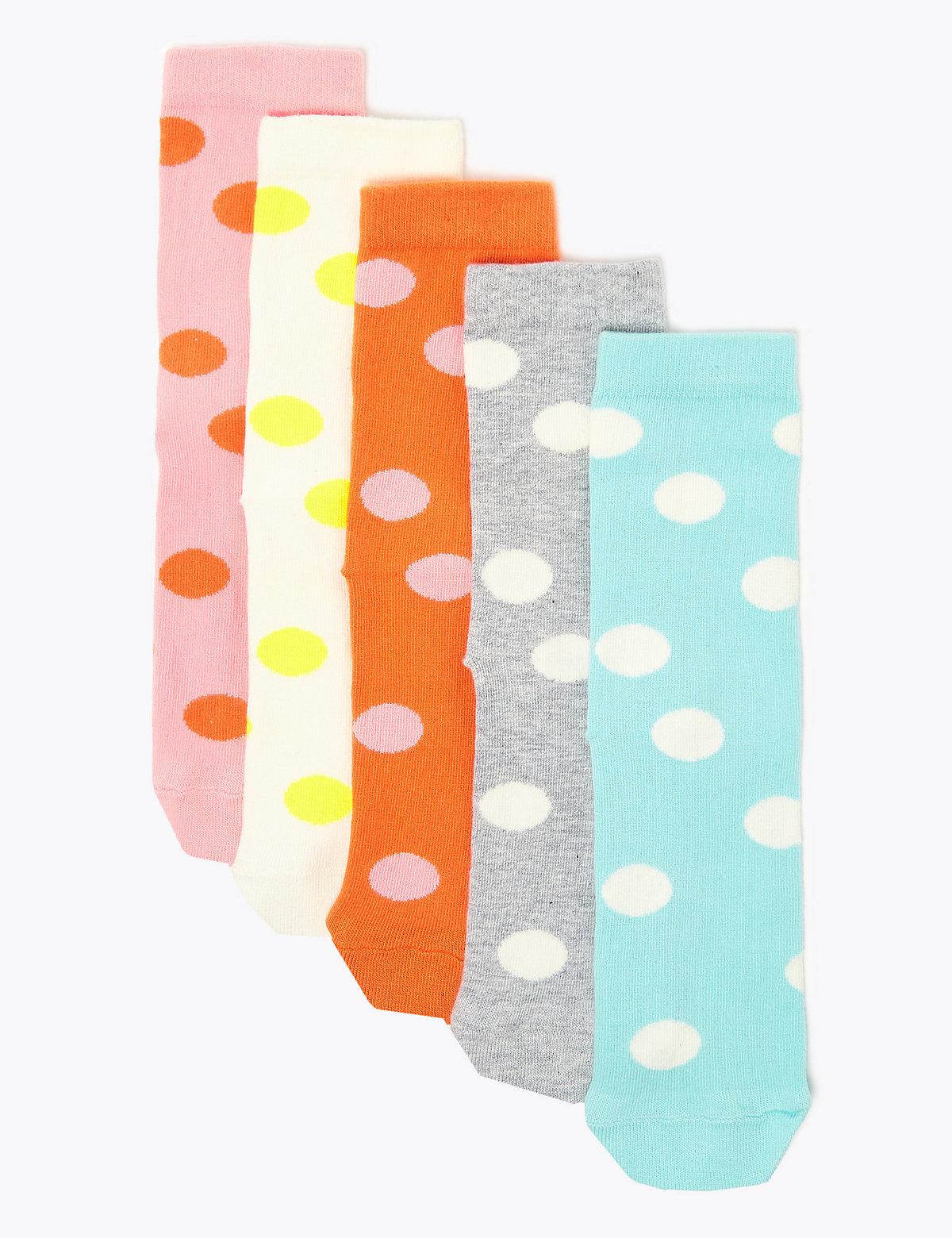 Комплект носков в горохи (5 пар)