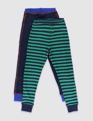 Термобелье для мальчика 18 мес-16 лет: нижние брюки с манжетами (2 пары) от Marks & Spencer