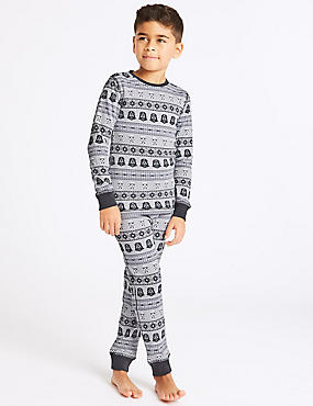 Cotton Blend Star Wars™ Thermal Set (18 Months - 16 Years), BLACK/GREY, catlanding