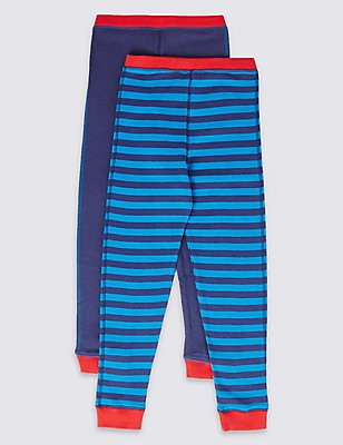 Cuffed Hem Thermal Long Pants (18 Months - 16 Years), BRIGHT BLUE MIX, catlanding