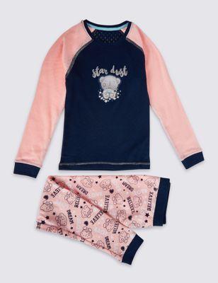 Термобельё Star Dust для девочки 18 мес-7 лет: мягкие брюки с манжетами и топ от Marks & Spencer