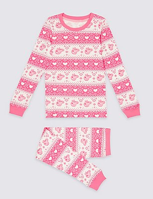 Cotton Blend Peppa Pig™ Thermal Set (18 Months - 7 Years), PINK MIX, catlanding