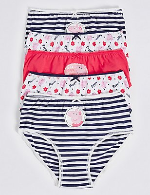 5 Pack Pure Cotton Peppa Pig™ Briefs (18 Months - 7 Years), CHAMBRAY MIX, catlanding