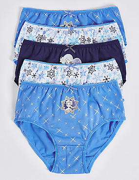 5 Pack Pure Cotton Disney Frozen™ Briefs (18 Months - 7 Years), BLACKBERRY, catlanding