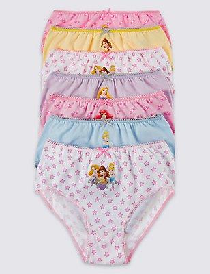 7 Pack Disney Princess™  Briefs (1-7 Years), PINK/WHITE, catlanding