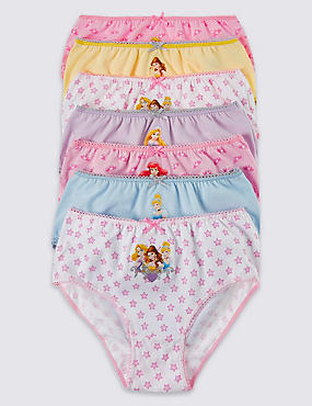 7 Pack Disney Princess Briefs (1-7 Years), PINK/WHITE, catlanding
