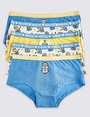 5 Pack Despicable Me™ Minions Cotton Shorts with Stretch (6-16 years), WHITE MIX, catlanding