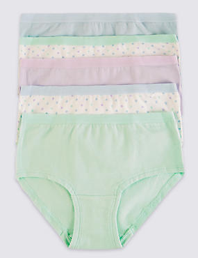 5 Pack Cotton Rich Assorted Shorts (6-16 Years), MINT MIX, catlanding