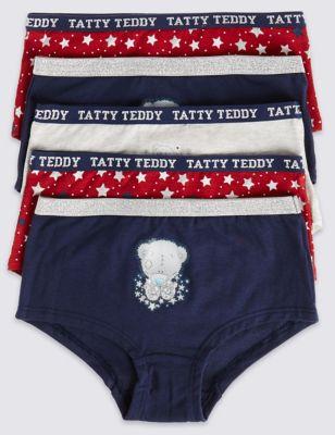 Хлопковые трусики-шортики Tatty Teddy со звёздочками для девочки 2-16 лет (5 шт)