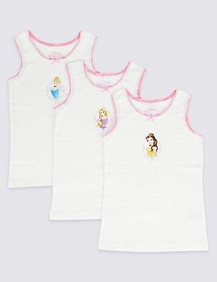 3 Pack Disney Princess Vests (2-7 Years), WHITE MIX, catlanding