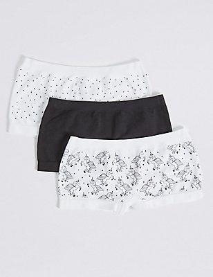 Seamfree Shorts (6-16 Years), WHITE/BLACK, catlanding