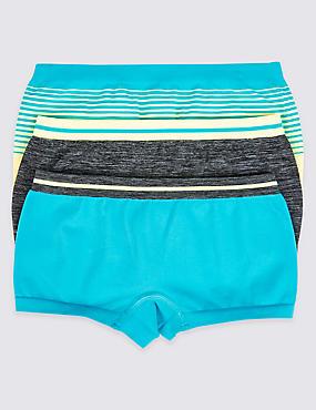 3 Pack Seamfree Assorted Shorts (6-16 Years), BLUE/GREEN, catlanding