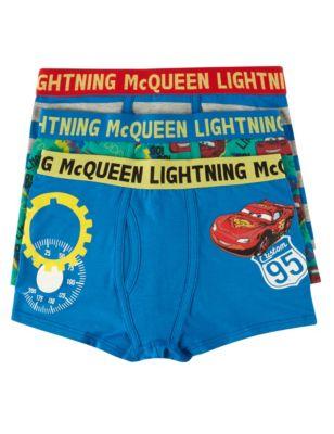 """Хлопковые трусы-транки """"Молния McQueen"""" для мальчика 3-10 лет (3 шт) T714226"""