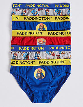 Pure Cotton Paddington™ Briefs (1-8 Years), BLUE MIX, catlanding