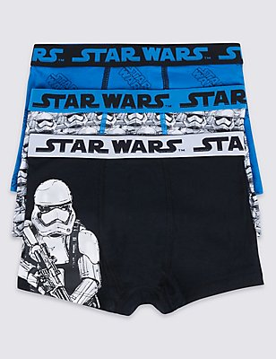 Star Wars™ Cotton Trunks with Stretch (2-16 Years), BLUE MIX, catlanding