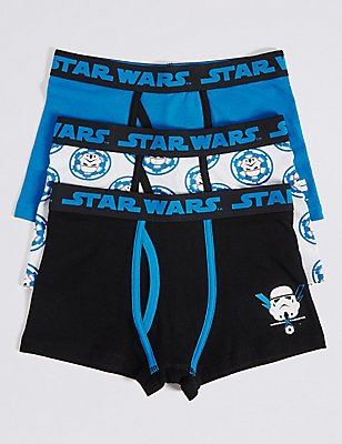 3 Pack Star Wars™ Cotton Trunks with Stretch (2-16 Years), BLUE/BLACK, catlanding