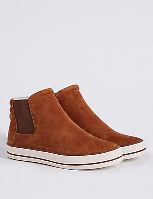 Kids' Pull-on Chelsea Boots, BROWN, catlanding