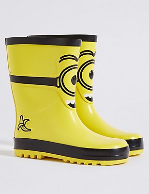 Kids' Despicable Me™ Minions Wellington Boots, YELLOW, catlanding
